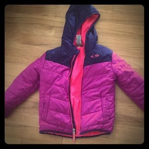 Champions bi color purple zipper coat